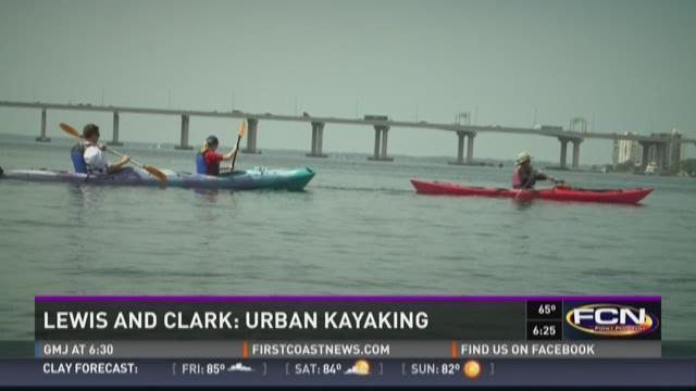 Lewis and Clark go urban kayaking.  Parts of the trip