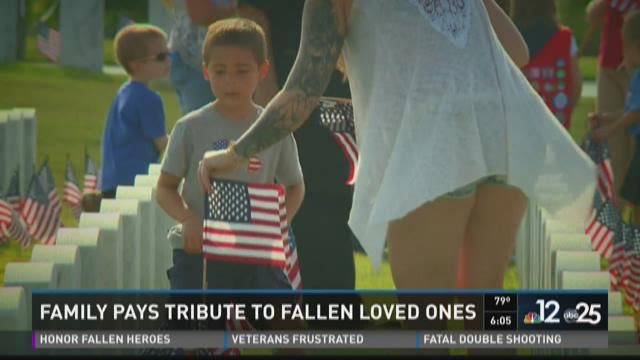 Family pays tribute to fallen loved ones