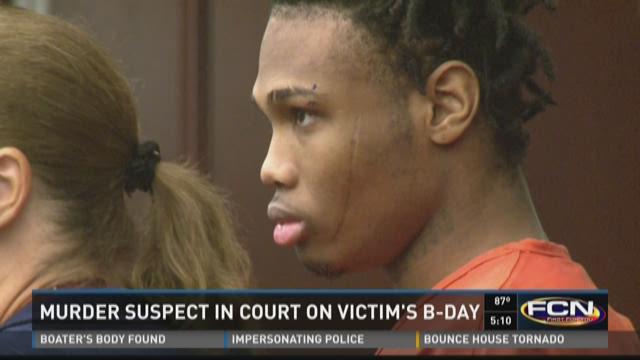 Murder suspect in court on victim's birthday