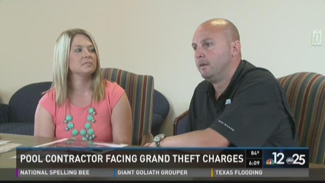 Pool contractor facing grand theft charges