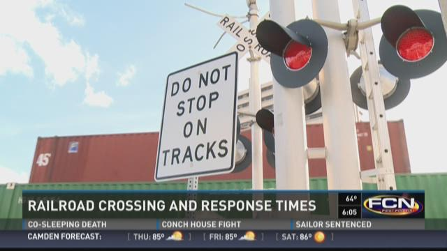 Railroad crossing and response times