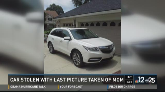 Stolen Clay County SUV; missing priceless family photo