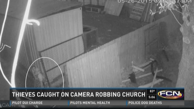 Thieves caught on camera robbing Westside church