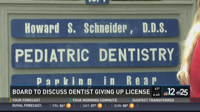 Board to discuss dentist giving up license