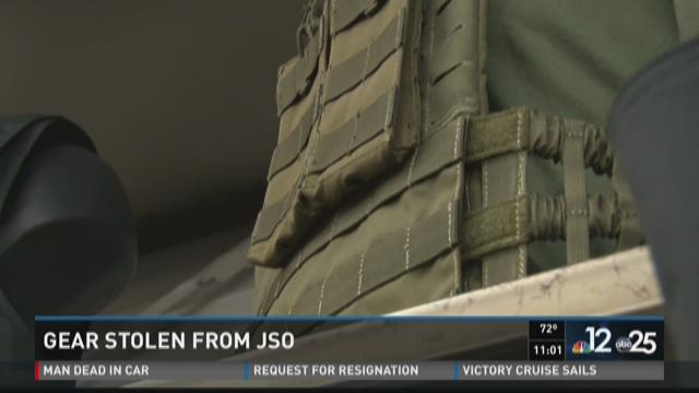Tactical gear, vehicle stolen from JSO 'undercover' facility