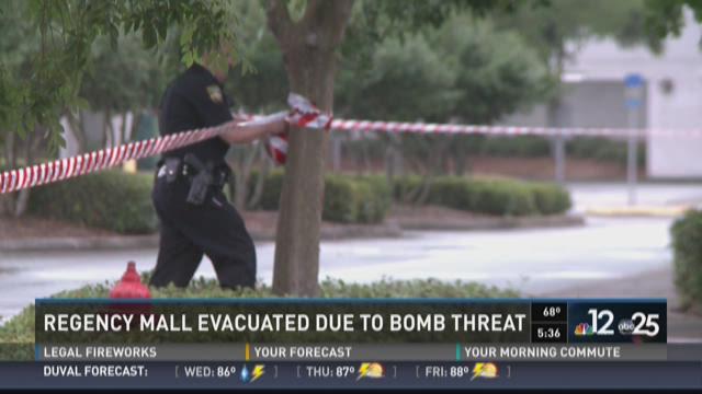 Regency Mall evacuated due to bomb threat