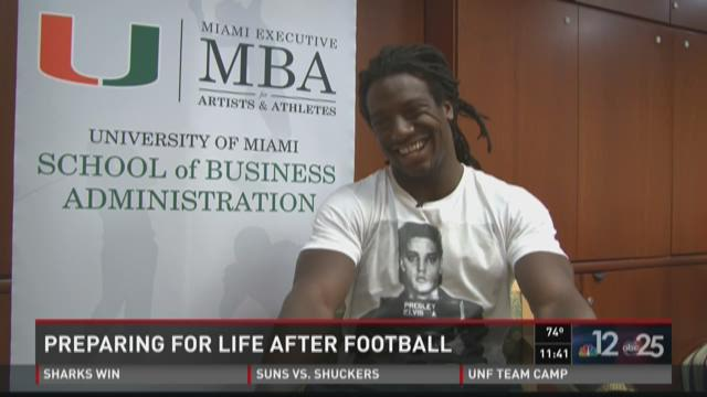 Sergio Brown goes back to school