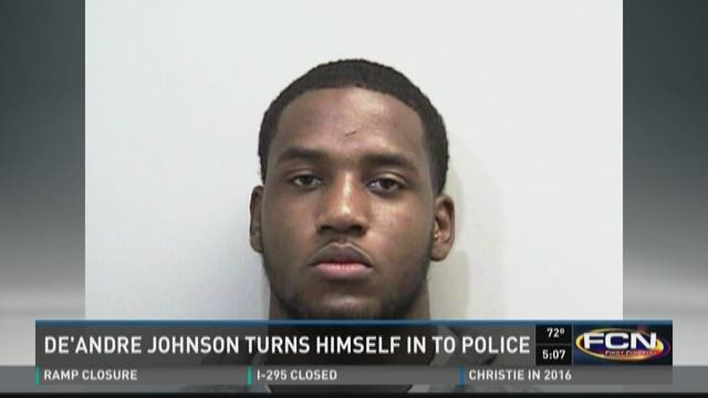 De'Andre Johnson turns himself in to police