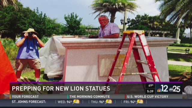 The Bridge of Lions is receiving a new pair of statutes