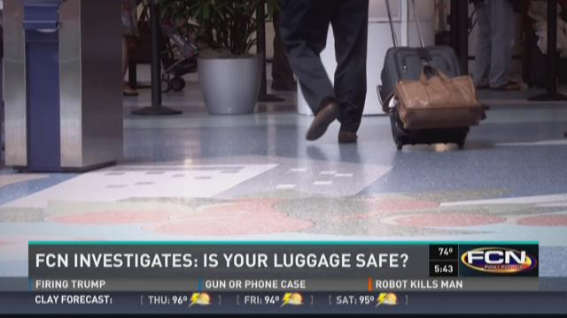 Passengers claim items were stolen from their luggage.