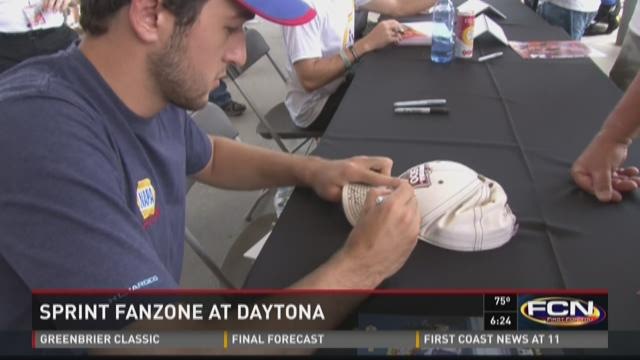 Nascar fans enjoy Sprint FanZone