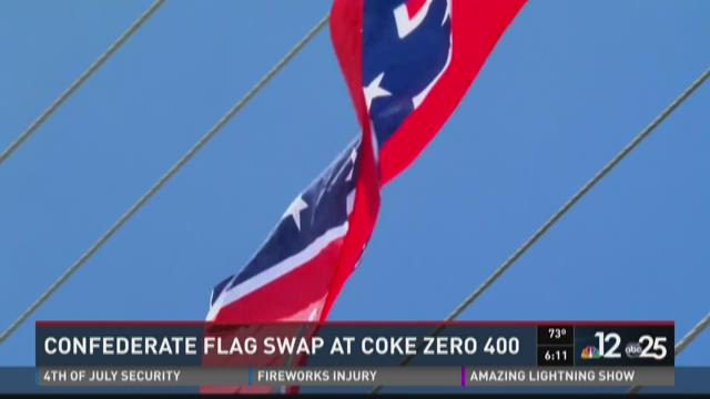 Confederate flag swap at Coke Zero 400