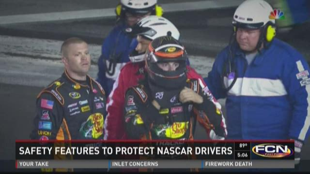 Safety features to protect NASCAR drivers