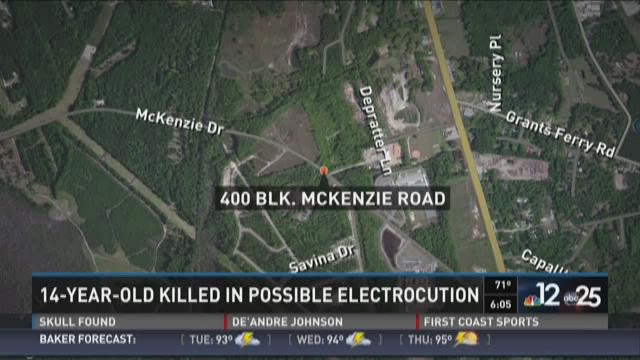 Location of teenager's electrocution.