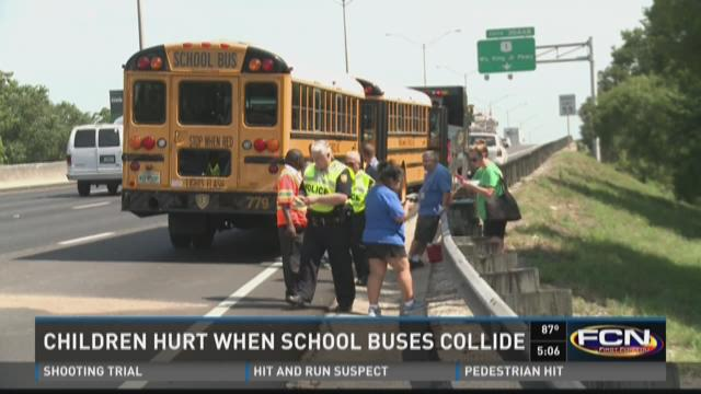 Two school buses in crash on I-95