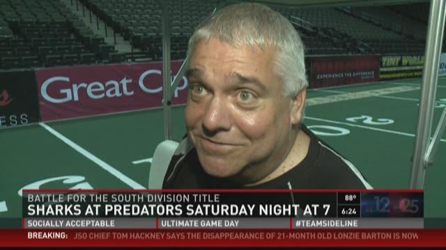 Sharks prepare for huge game against Orlando Predators