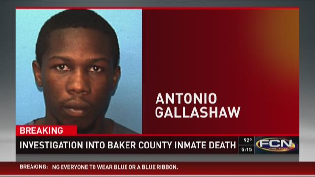 Inmate Antonio Gallashaw, 23, died in custody at the