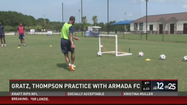 Two Jaguars practice with Armada FC