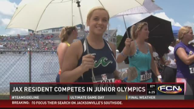 Kristina Muller competes in USATF Junior Olympics