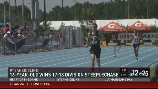 16-year-old wins men's 17-18 steeplechase at USATF