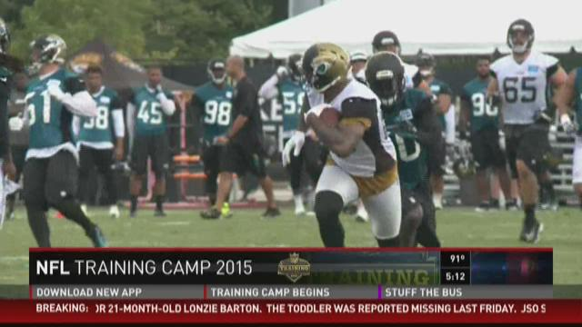 First practice of Jaguars training camp
