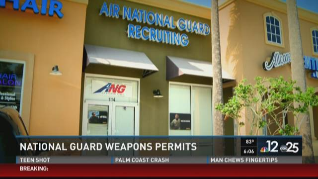 National Guard weapons permits