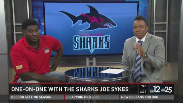 Sharks star Joe Sykes visits First Coast News studios