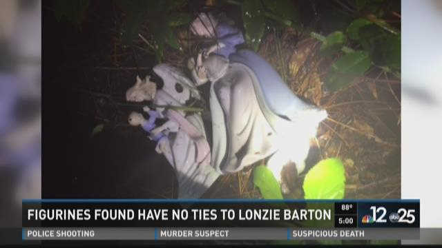 Porcelain angel figurines found during private search