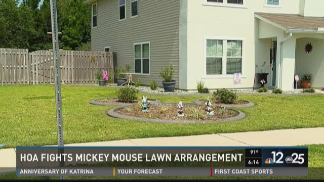 HOA wants mouse removed from landscape