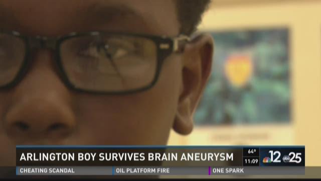 Arlington fifth grader cheats death, survives ruptured brain aneurysm