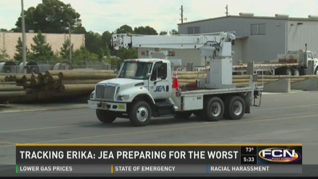 Tracking Erika: JEA preparing for the worst