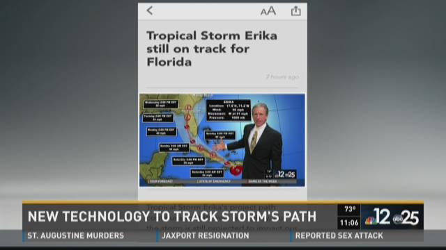 New technology in play to track storm's path