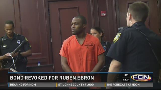 Ebron appears before a judge Monday morning.