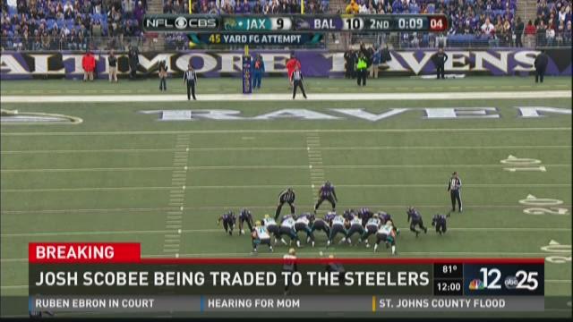 Report: Jaguars trade Scobee to Steelers