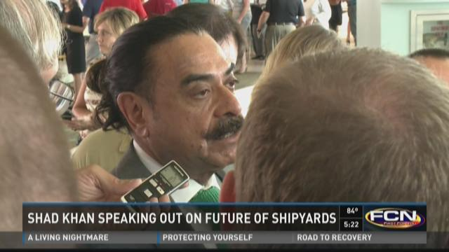 Shad Khan speaking out on future of shipyards