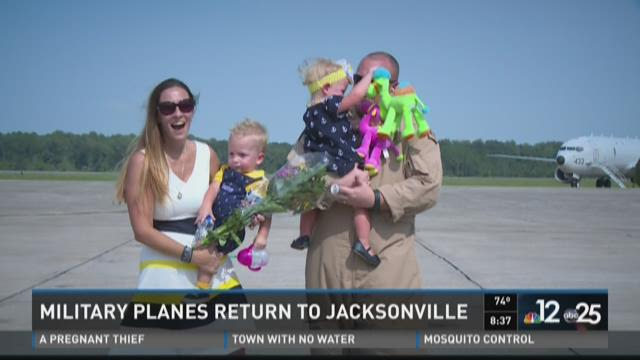Military planes return to Jacksonville