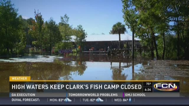 High waters keep clark 39 s fish camp closed for Julington fish camp
