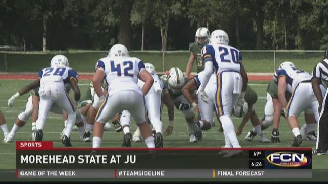 JU defeats Morehead State 30-26
