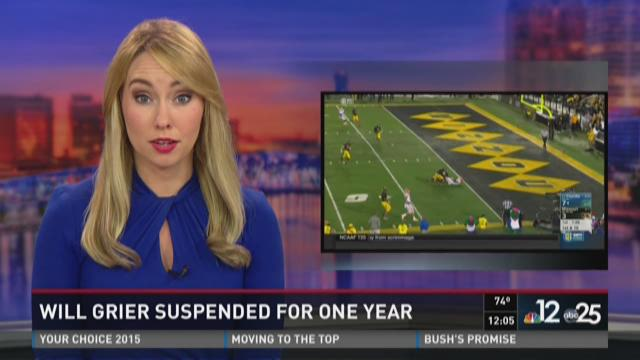Will Grier suspended for one year