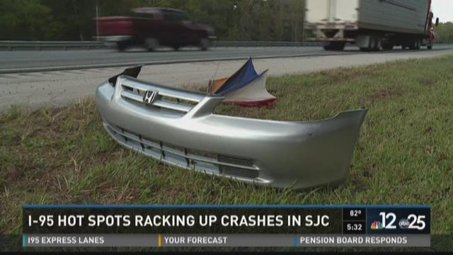 I-95 hot spots racking up crashes in SJC