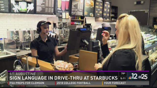reaction of sign language at starbucks Foreign language question (selfstarbucks) their language or because i don't really understand sign language i saw starbucks used to have some kind of pin.