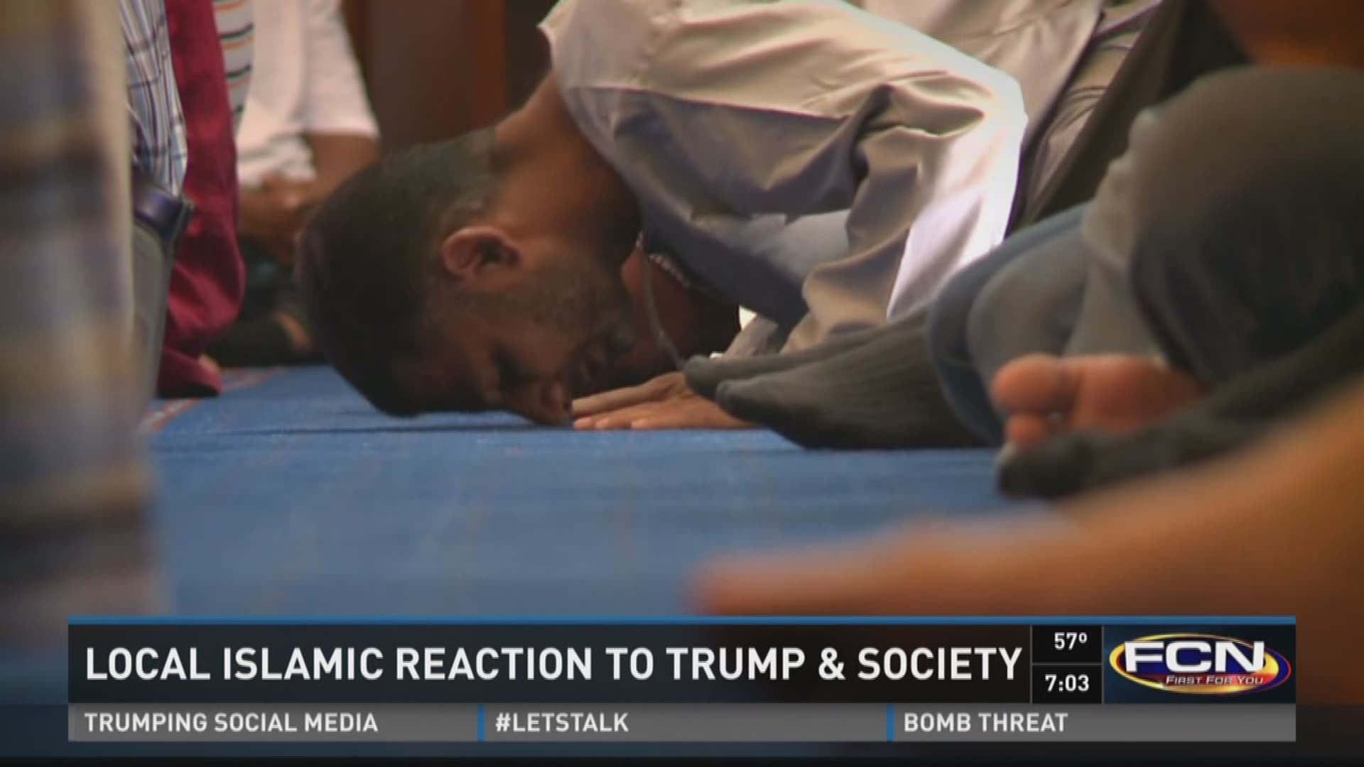 Local Islamic reaction to Trump and society