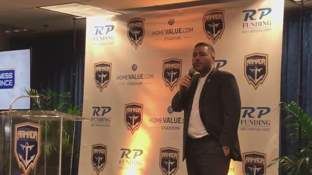 BACK TO THE MINORS: Armada means business, announces new stadium plan
